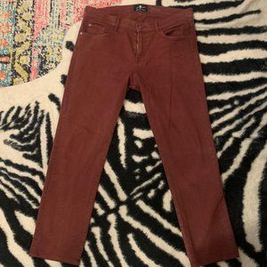 7 For All Mankind Slimmy Red Jeans/Twills